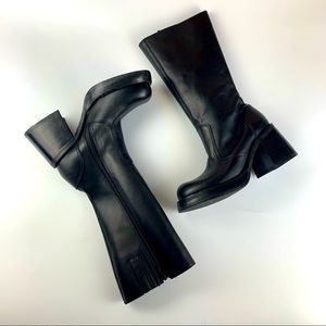 Steve Madden Ray Y2k Black Chunky Knee Boots